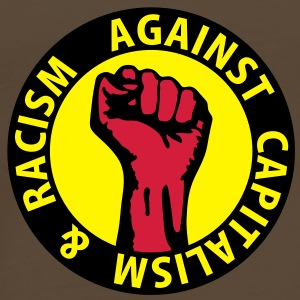 3 colors - against capitalism & racism - against capitalism working class war revolution Tassen - Mannen Premium T-shirt
