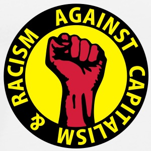 3 colors - against capitalism & racism - against capitalism working class war revolution Felpe - Maglietta Premium da uomo