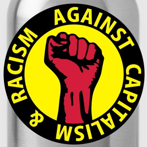 3 colors - against capitalism & racism - against capitalism working class war revolution Sweatshirts - Drikkeflaske