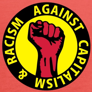 3 colors - against capitalism & racism - against capitalism working class war revolution T-shirts - Tanktopp dam från Bella