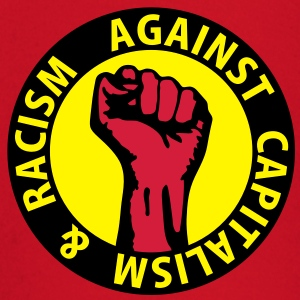 3 colors - against capitalism & racism - against capitalism working class war revolution T-Shirts - Baby Langarmshirt