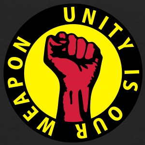 3 colors - unity is our weapon - against capitalism working class war revolution Tasker - Herre premium T-shirt med lange ærmer