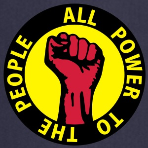 3 colors - all power to the people - against capitalism working class war revolution Sudadera - Delantal de cocina