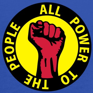 3 colors - all power to the people - against capitalism working class war revolution Sudadera - Camiseta de tirantes mujer, de Bella