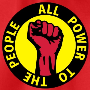 3 colors - all power to the people - against capitalism working class war revolution T-shirts - Gymnastikpåse