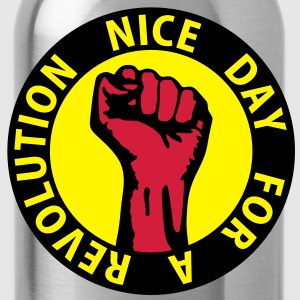 3 colors - nice day for a revolution - against capitalism working class war revolution Tasker - Drikkeflaske