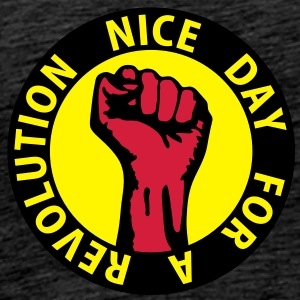 3 colors - nice day for a revolution - against capitalism working class war revolution Tröjor - Premium-T-shirt herr