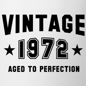 VINTAGE 1972 T-Shirt - Aged To Perfection BW - Taza