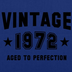 VINTAGE 1972 T-Shirt - Aged To Perfection SN - Stoffveske