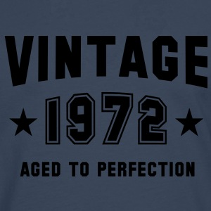 VINTAGE 1972 T-Shirt - Aged To Perfection SN - Men's Premium Longsleeve Shirt
