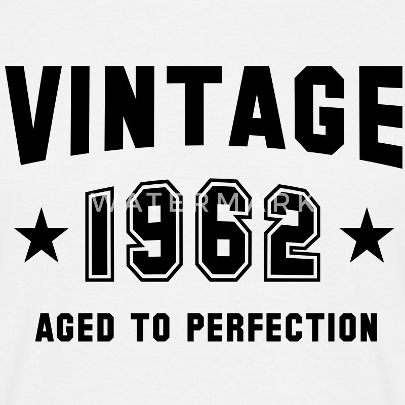 VINTAGE 1962 T-Shirt - Aged To Perfection BW - Maglietta da uomo