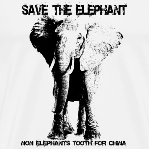 Save the elephant - Männer Premium T-Shirt