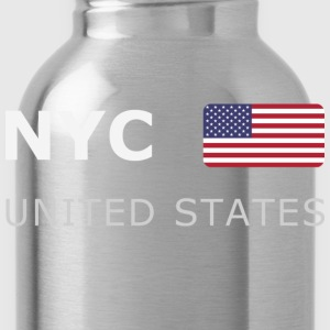 Classic T-Shirt NYC UNITED STATES white-lettered - Trinkflasche