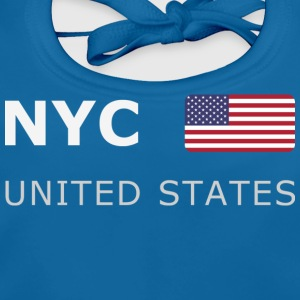 Teenager T-Shirt NYC UNITED STATES - Ekologisk babyhaklapp