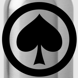 poker pik icon T-Shirts - Trinkflasche