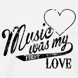 music was my first love Flessen & tassen - Mannen Premium T-shirt