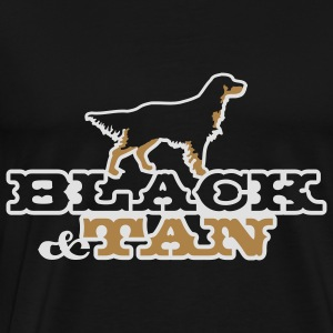felpa black and tan - Men's Premium T-Shirt
