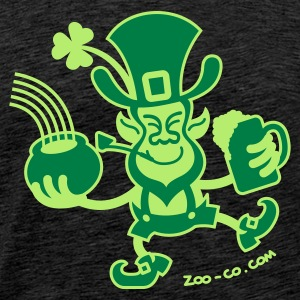 Saint Patrick's Leprechaun - Men's Premium T-Shirt