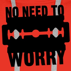 No need to worry solo T-shirts - Premiumluvtröja herr