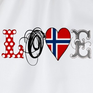 Love Norway Black - Turnbeutel