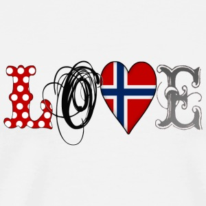 Love Norway Black - Männer Premium T-Shirt