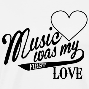 Music was my first Love Langarmshirts - Männer Premium T-Shirt