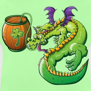 Drunk St Patrick's Day Dragon Kids' Tops - Baby T-Shirt
