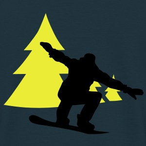 snowboarder trees Vestes & gilets - T-shirt Homme