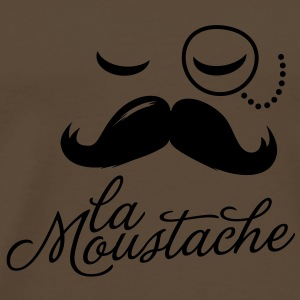 La Moustache Typography Bags  - Men's Premium T-Shirt
