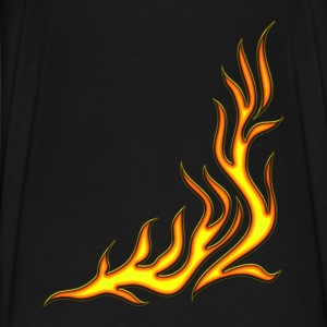 Flame / T-shirt, Motiv 2, Fire, digital, yellow, red Sweaters - Mannen Premium T-shirt