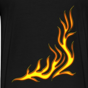 Flame / T-shirt, Motiv 2, Fire, digital, yellow, red Barntröjor - Premium-T-shirt herr