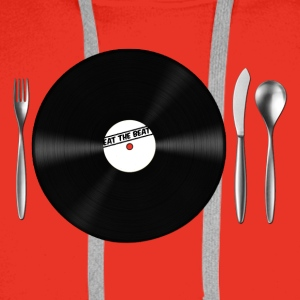 Eat the Beat / Save the Vinyl Borse - Felpa con cappuccio premium da uomo