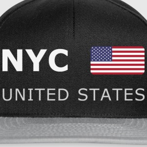 Teenager T-Shirt  NYC UNITED STATES white-lettered - Casquette snapback