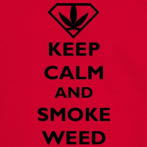 Keep Calm and Smoke Weed Bags  - Men's Ringer Shirt