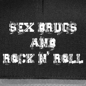 sex drugs and rock n' roll Sweat-shirts - Casquette snapback
