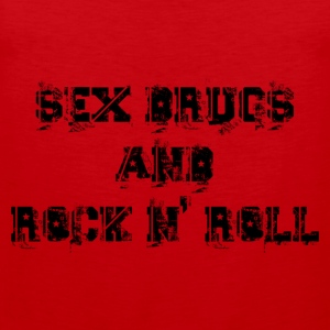 sex drugs and rock n' roll T-shirts - Premiumtanktopp herr