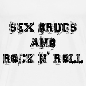sex drugs and rock n' roll Sweat-shirts - T-shirt Premium Homme