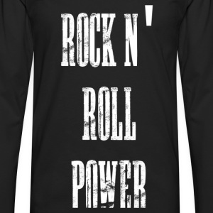 rock n' roll power T-shirts - Herre premium T-shirt med lange ærmer