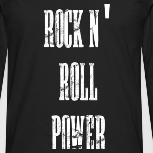 rock n' roll power bolsas - Camiseta de manga larga premium hombre