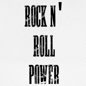 rock n' roll power Tröjor - Basebollkeps