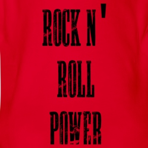rock n' roll power Shirts - Organic Short-sleeved Baby Bodysuit