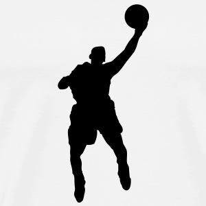 Basketball Player (Vector) - Men's Premium T-Shirt