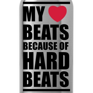 My heart beats because of hard beats  Pullover - Trinkflasche