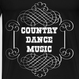 country dance music Sweatshirts - Herre premium T-shirt