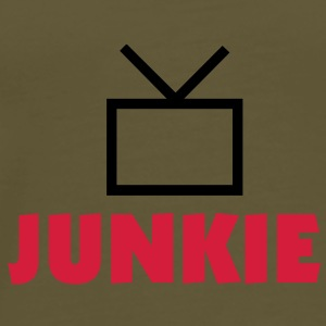 tv_junkie_color_25 Tasker - Herre premium T-shirt