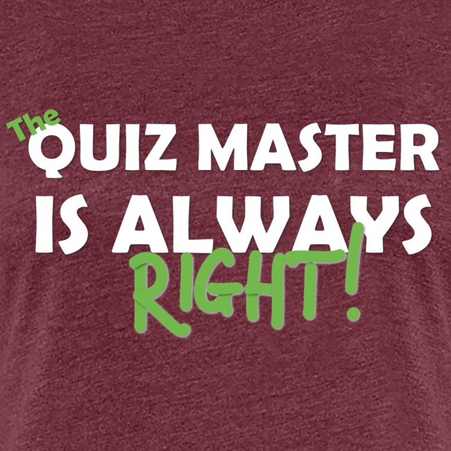The Quiz Master is always right Retro Shirt