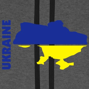 ukraine_umriss_flagge_50 Sacs - Sweat-shirt baseball unisexe