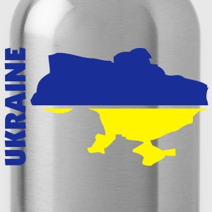 ukraine_umriss_flagge_50 Bags  - Water Bottle