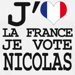 j'aime la France je vote Nicolas Sweat-shirts - T-shirt Premium Homme