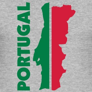 portugal_umriss_flagge_50 Pullover - Männer Slim Fit T-Shirt